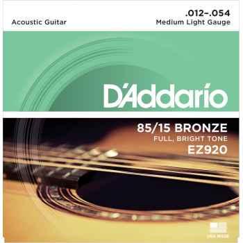 D´addario EZ920 - 85*15 Great American Med-Light cuerdas Guitarra Acústica